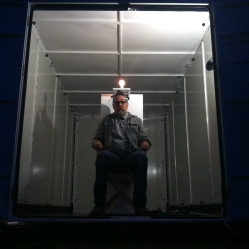 John Slepian's Mobile Art Box installation
